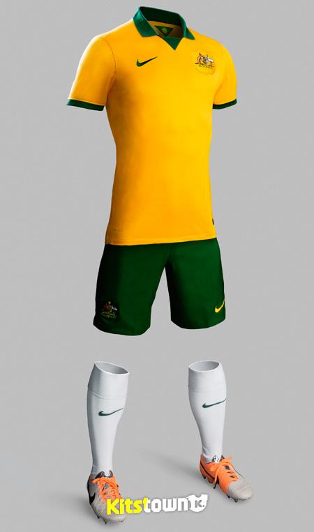 澳大利亚国家队2014世界杯主场球衣 © kitstown.com 球衫堂