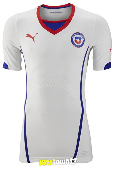 智利国家队2014世界杯主客场球衣 © kitstown.com 球衫堂