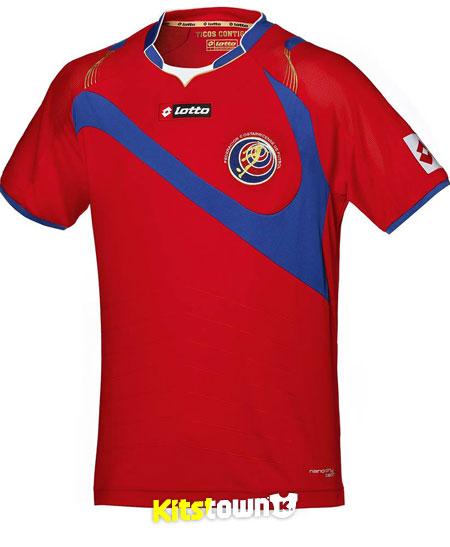 哥斯达黎加国家队2014世界杯主客场球衣 © kitstown.com 球衫堂