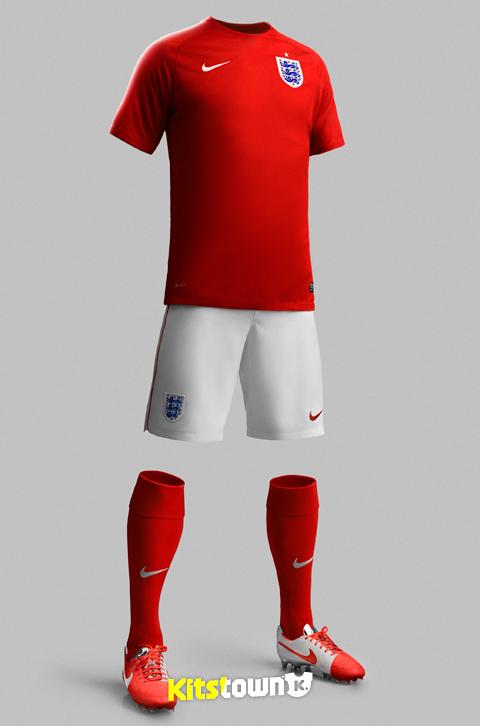 英格兰国家队2014世界杯主客球衣 © kitstown.com 球衫堂