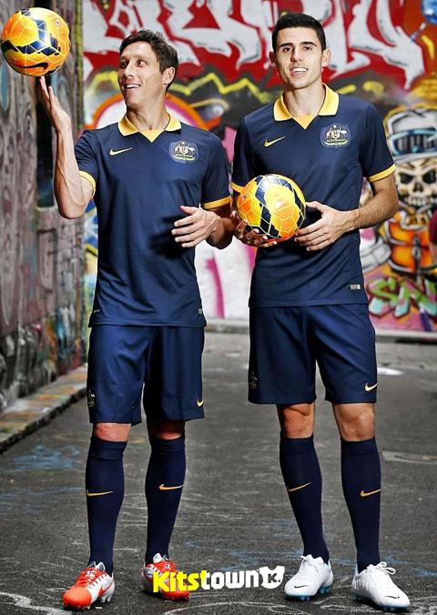 澳大利亚2014世界杯客场球衣 © kitstown.com 球衫堂
