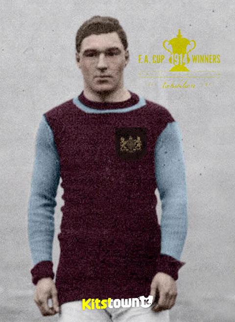 伯恩利1914足总杯冠军百年纪念球衣 © kitstown.com 球衫堂
