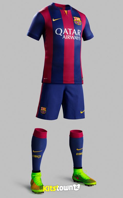 巴塞罗那2014-15赛季主场球衣 © kitstown.com 球衫堂