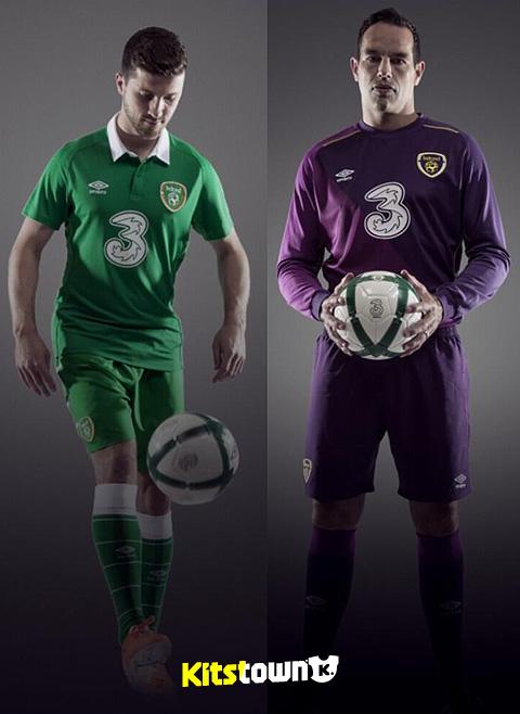 爱尔兰国家队2014-15赛季主场球衣 © kitstown.com 球衫堂
