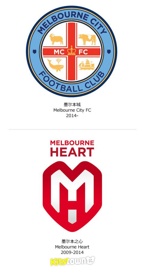 墨尔本之心更名墨尔本城并公布新队徽 © kitstown.com 球衫堂