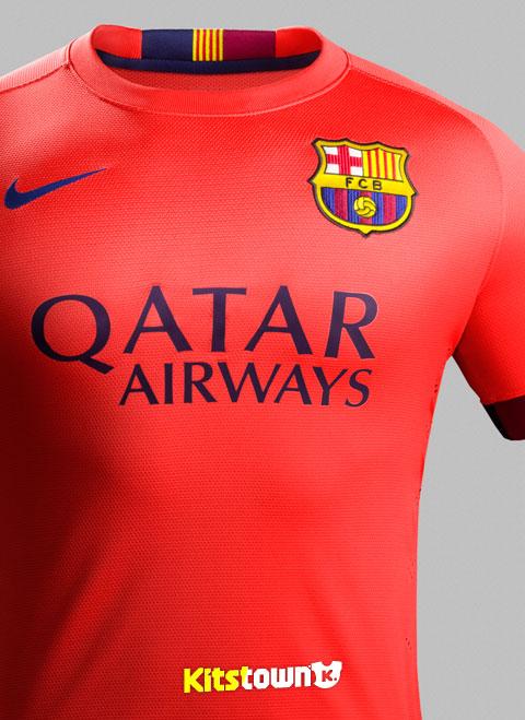 巴塞罗那2014-15赛季客场球衣 © kitstown.com 球衫堂
