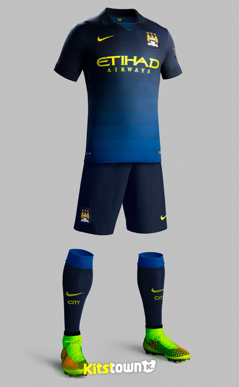 曼彻斯特城2014-15赛季客场球衣 © kitstown.com 球衫堂