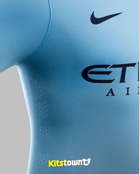 曼彻斯特城2014-15赛季主场球衣 © kitstown.com 球衫堂