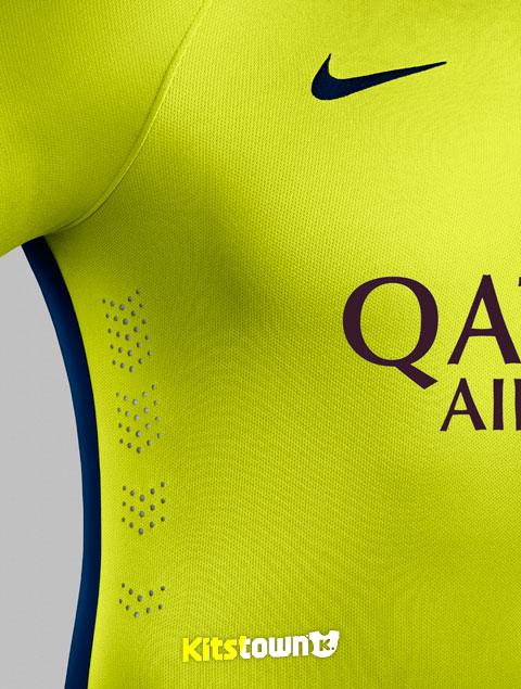 巴塞罗那2014-15赛季第二客场球衣 © kitstown.com 球衫堂