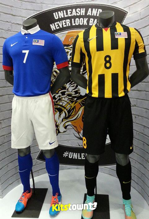 马来西亚国家队2014-15赛季主客场球衣 © kitstown.com 球衫堂