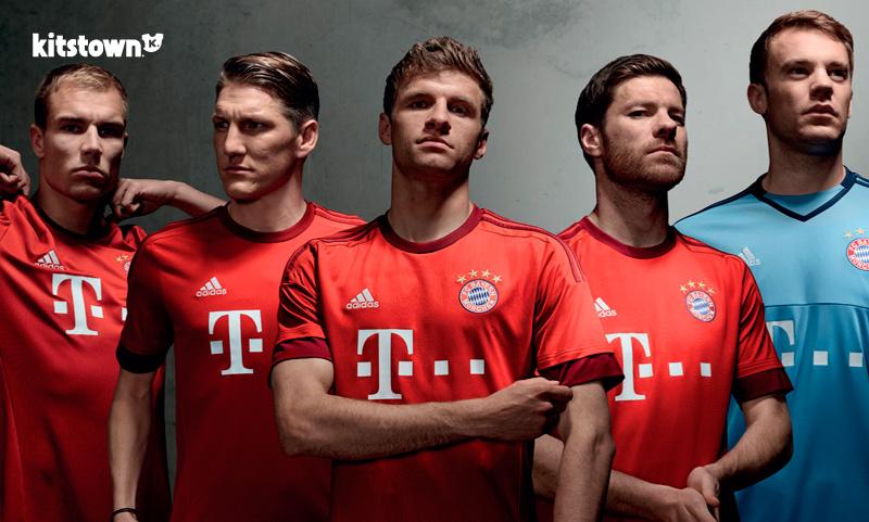 拜仁慕尼黑2015-16赛季主场球衣 © kitstown.com 球衫堂