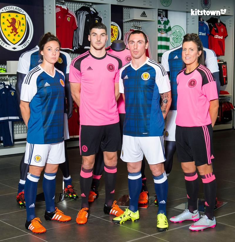 苏格兰代表队2016-17赛季主客场球衣 © kitstown.com 球衫堂