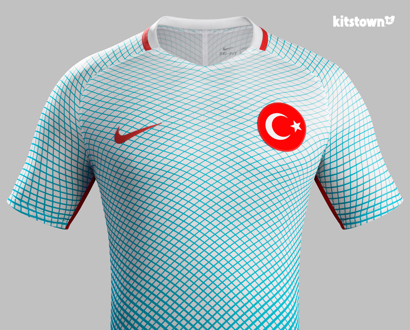 土耳其国家队2016欧洲杯主客场球衣 © kitstown.com 球衫堂