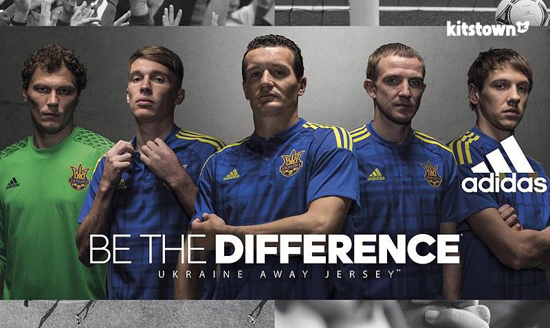 乌克兰国家队2016欧洲杯主客场球衣 © kitstown.com 球衫堂