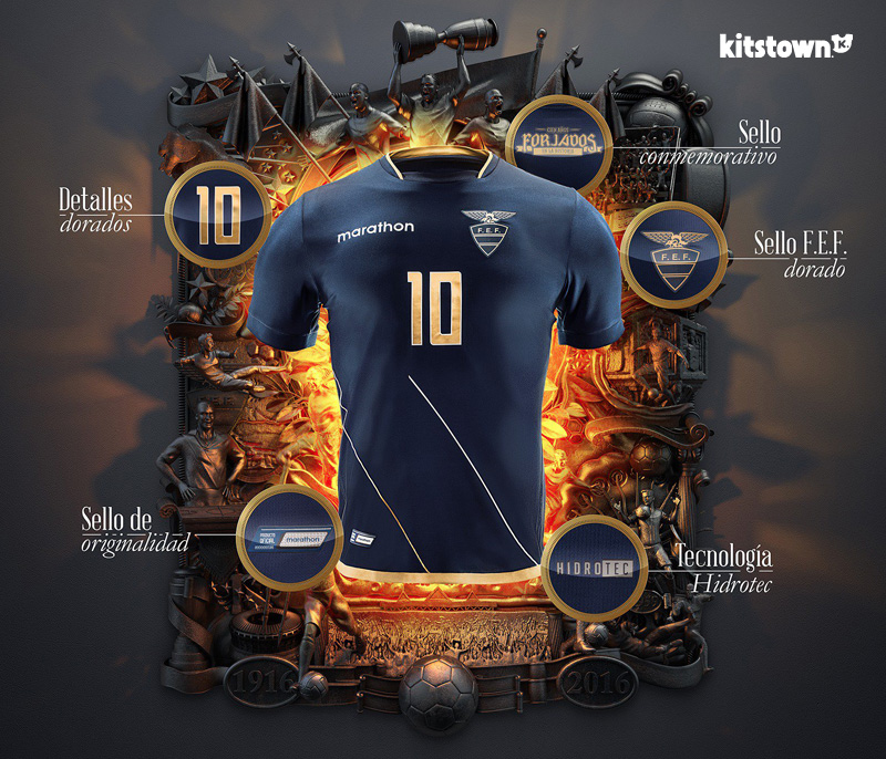 厄瓜多尔国家队2016百年美洲杯特别版球衣