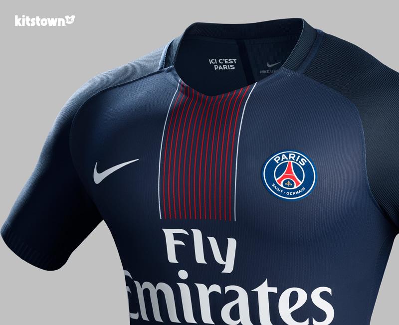 巴黎圣日耳曼2016-17赛季主场球衣 © kitstown.com 球衫堂