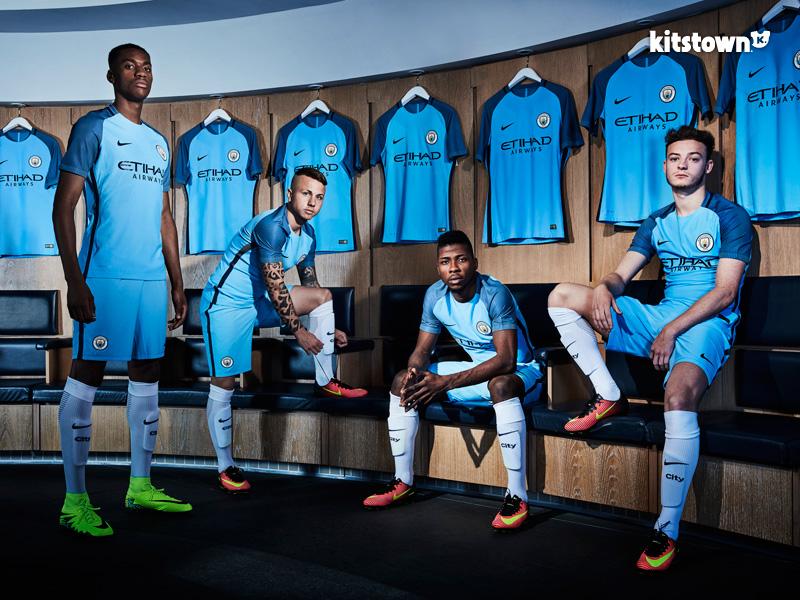 曼彻斯特城2016-17赛季主场球衣 © kitstown.com 球衫堂