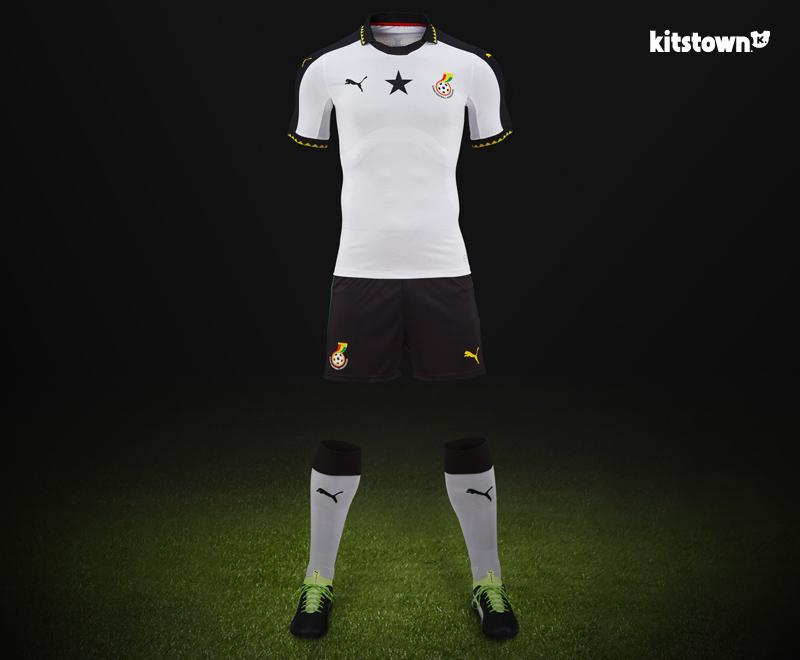 加纳国家队2017年非洲国家杯主场球衣 © kitstown.com 球衫堂