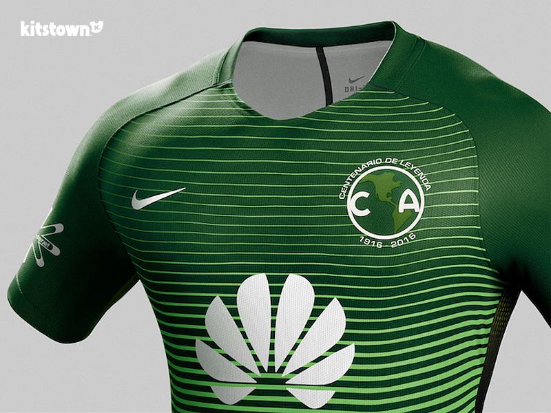 墨西哥美洲2017赛季第二客场球衣 © kitstown.com 球衫堂