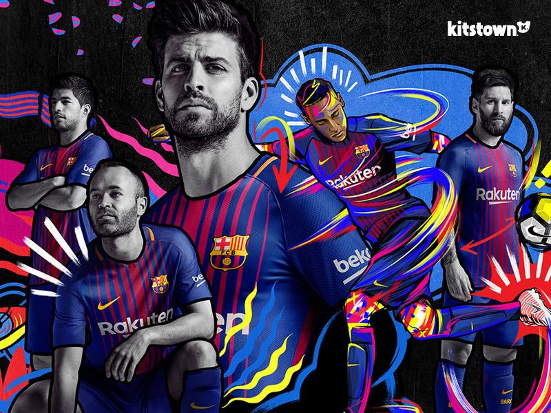 巴塞罗那2017-18赛季主场球衣 © kitstown.com 球衫堂