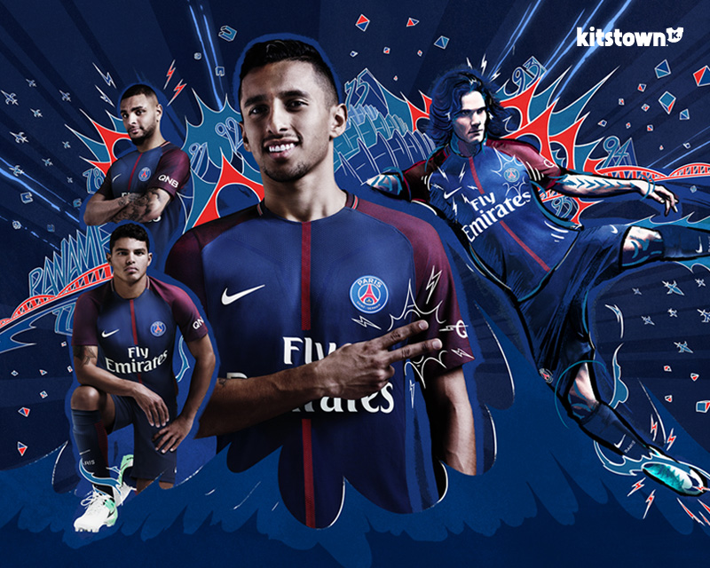巴黎圣日耳曼2017-18赛季主场球衣 © kitstown.com 球衫堂