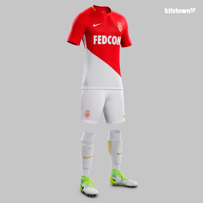 摩纳哥2017-18赛季主场球衣 © kitstown.com 球衫堂