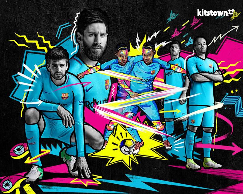 巴塞罗那2017-18赛季客场球衣 © kitstown.com 球衫堂