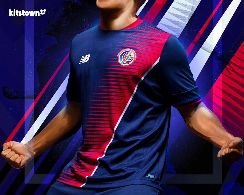 哥斯达黎加国家队2017金杯赛特别球衣 © kitstown.com 球衫堂