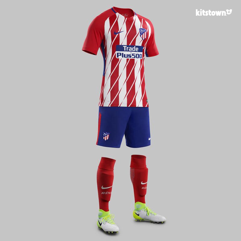 马德里竞技2017-18赛季主客场球衣 © kitstown.com 球衫堂