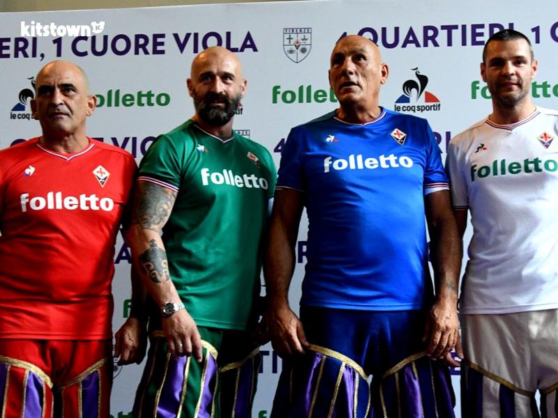 佛罗伦萨2017-18赛季主客场球衣 © kitstown.com 球衫堂