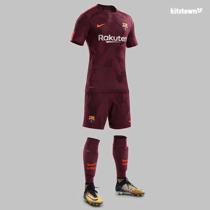 巴塞罗那2017-18赛季第二客场球衣 © kitstown.com 球衫堂