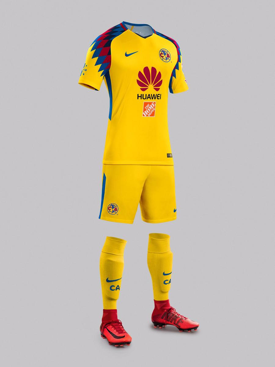 墨西哥美洲2018赛季第二客场球衣 © kitstown.com 球衫堂