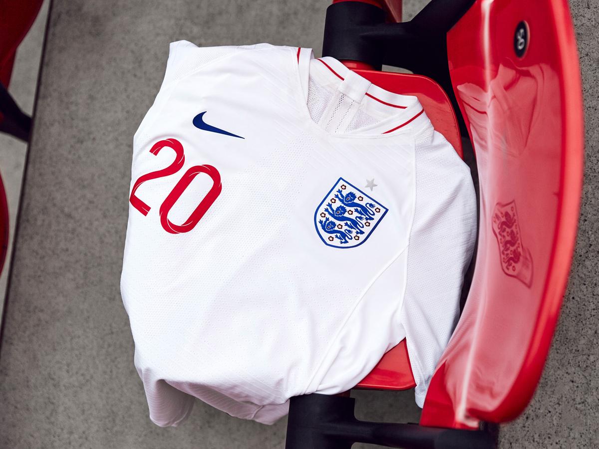 英格兰国家队2018世界杯主客场球衣 © kitstown.com 球衫堂