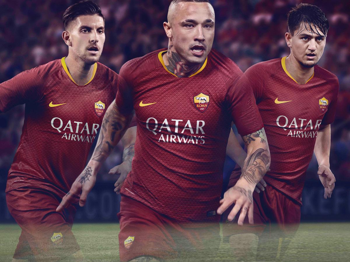 罗马2018-19赛季主场球衣 © kitstown.com 球衫堂