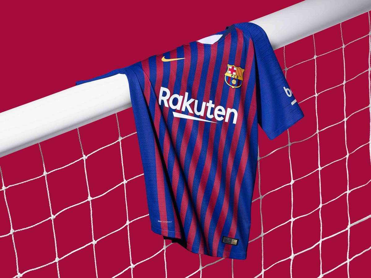 巴塞罗那2018-19赛季主场球衣 © kitstown.com 球衫堂