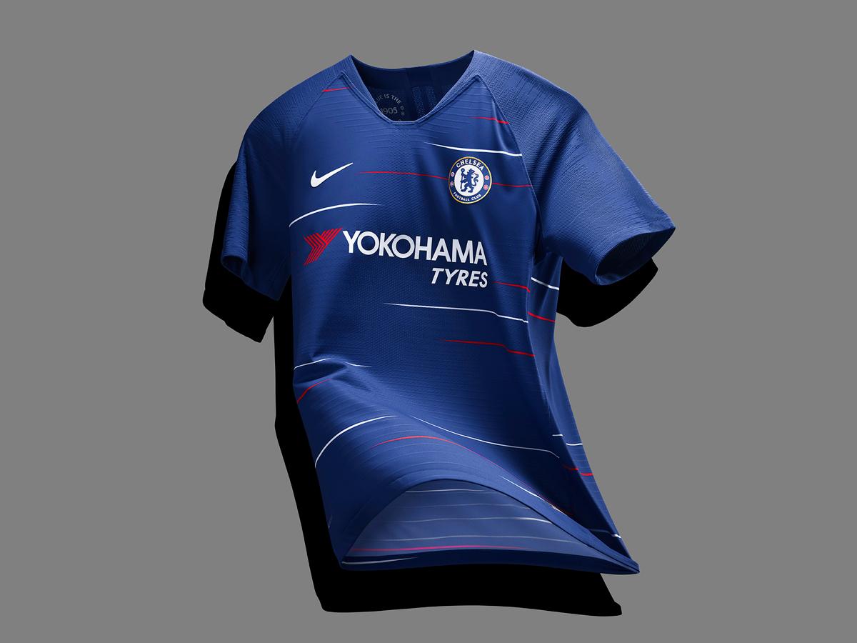 切尔西2018-19赛季主场球衣 © kitstown.com 球衫堂
