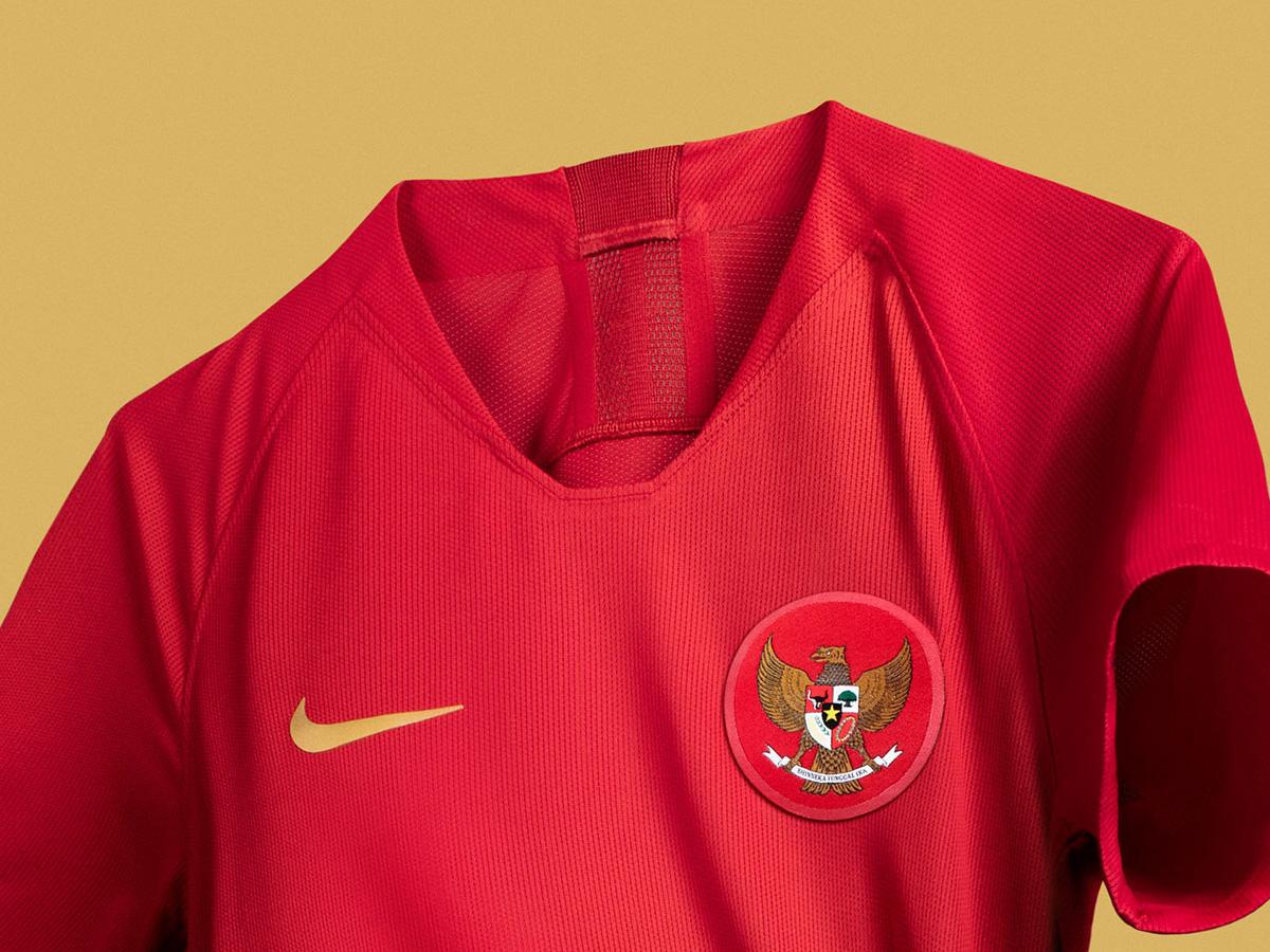 印度尼西亚国家队2018赛季主客场球衣 © kitstown.com 球衫堂