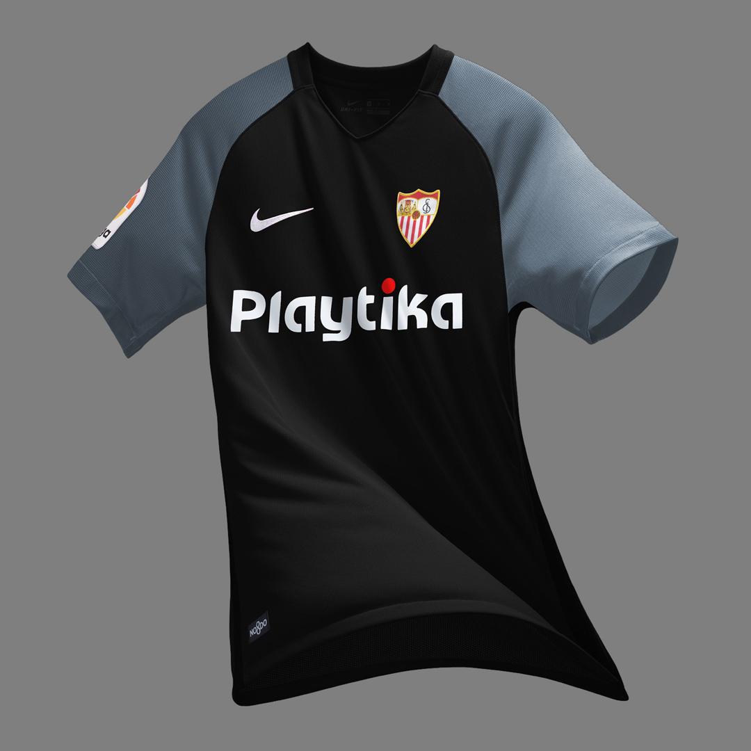 塞维利亚2018-19赛季主客场球衣 © kitstown.com 球衫堂