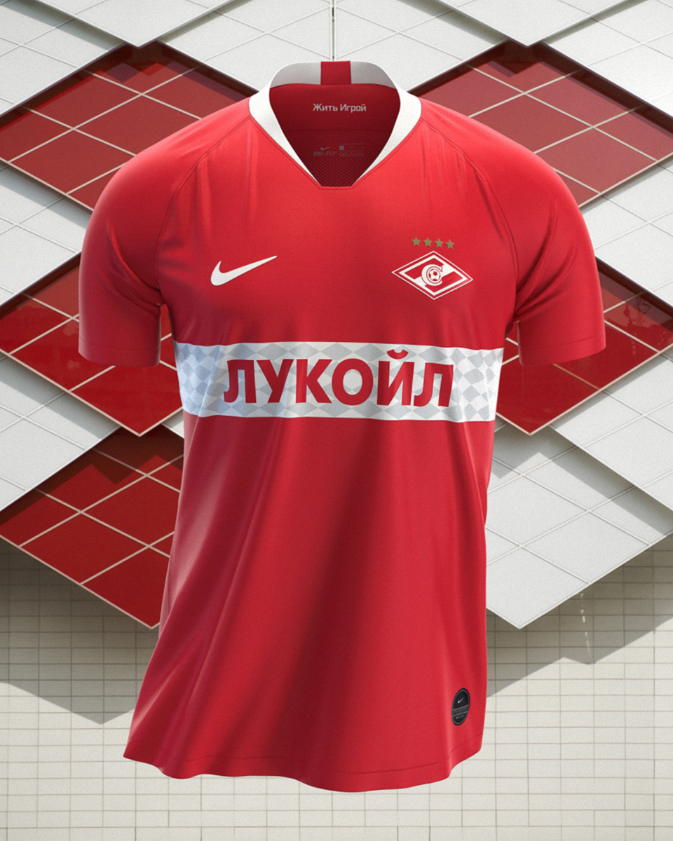 莫斯科斯巴达克2019-20赛季主客场球衣 © 球衫堂 kitstown