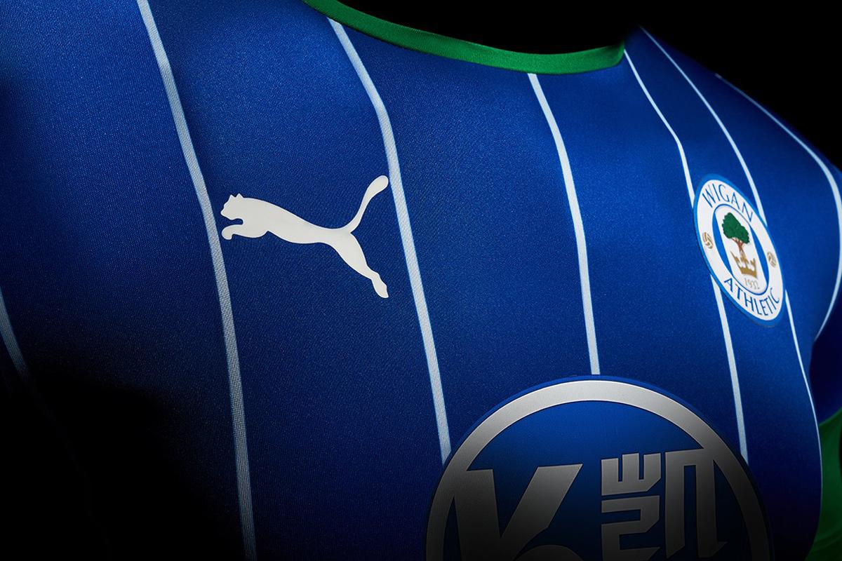 威根竞技2019-20赛季主客场球衣 © 球衫堂 kitstown