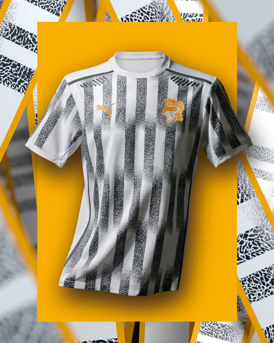 科特迪瓦国家队 2020-21 赛季主客场球衣插图(3)