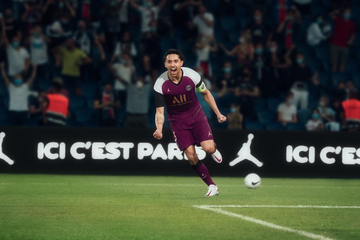 Jordan × 巴黎圣日耳曼 2020-21 赛季第二客场球衣 © 球衫堂 kitstown