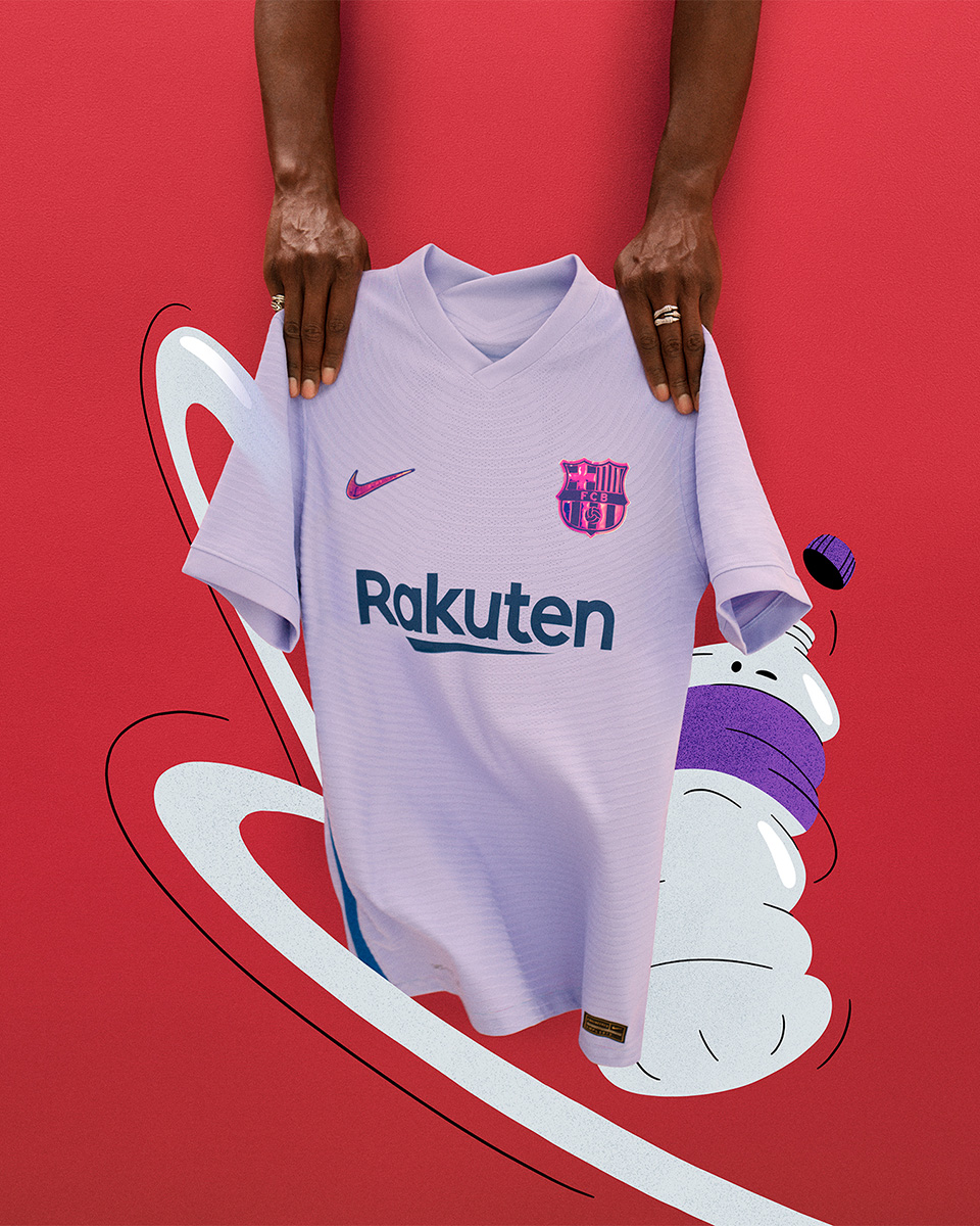 巴塞罗那 2021-22 赛季客场球衣 © 球衫堂 kitstown